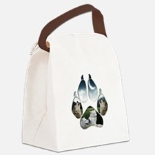Wolf Print.png Canvas Lunch Bag