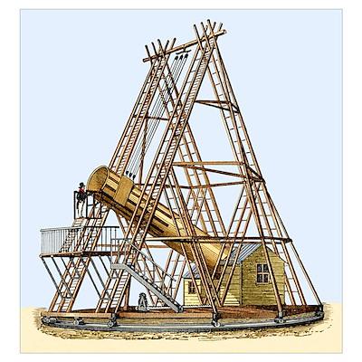 Herschel's Great Telescope, 18th century Poster