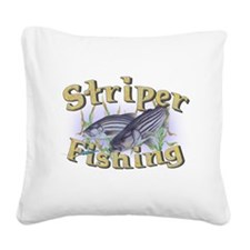 bass fishing.png Square Canvas Pillow