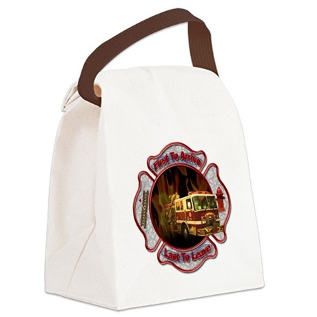 Firefighters.png Canvas Lunch Bag