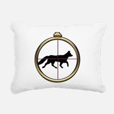 Fox Hunt Rectangular Canvas Pillow
