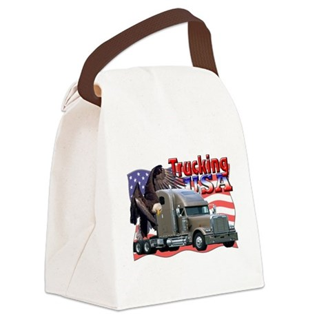 Trucking5.png Canvas Lunch Bag