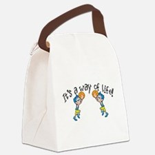 Basketball.png Canvas Lunch Bag