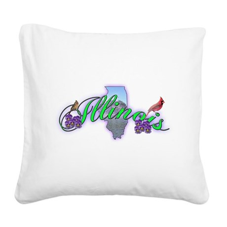 illinois.png Square Canvas Pillow