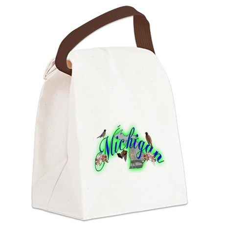 Michigan.png Canvas Lunch Bag