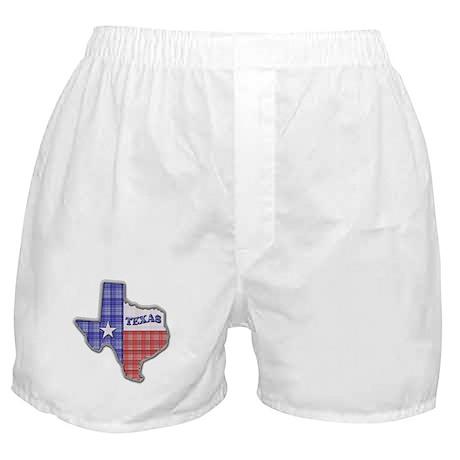 Plaid Texas Boxer Shorts