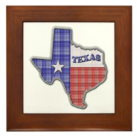 Plaid Texas Framed Tile