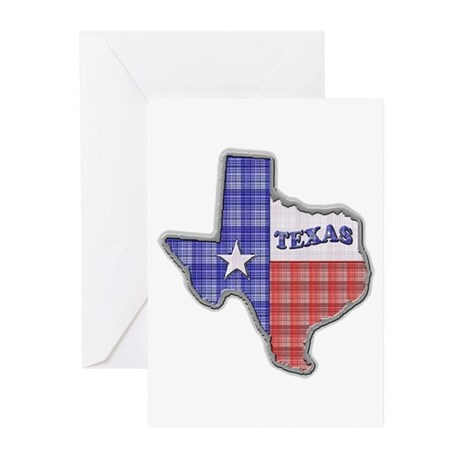 Plaid Texas Greeting Cards (Pk of 10)