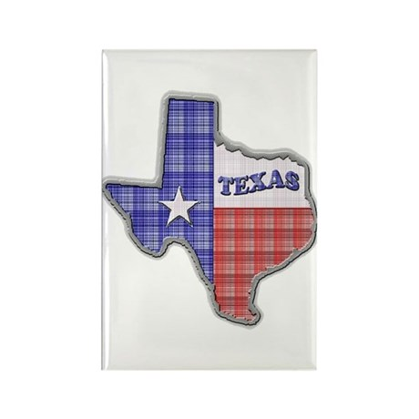Plaid Texas Rectangle Magnet