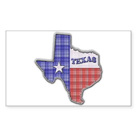 Plaid Texas Rectangle Sticker