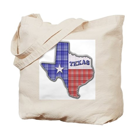 Plaid Texas Tote Bag