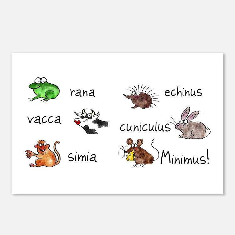 Minimus Latin animals Postcards (Package of 8)