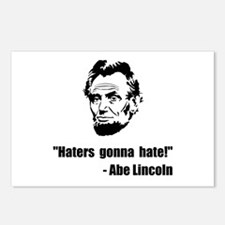 Haters Gonna Hate Lincoln Postcards (Package of 8)