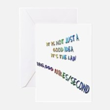 I love physics: lightspeed Greeting Cards (Package
