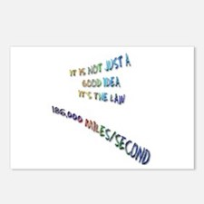 I love physics: lightspeed Postcards (Package of 8