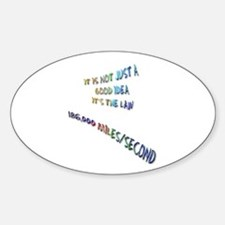 I love physics: lightspeed Oval Decal