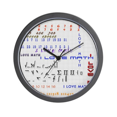I love math and science Wall Clock