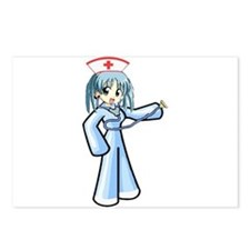 Anime Nurse with Stethoscope Postcards (Package of