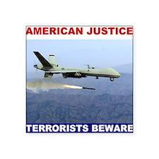 "American Justice.jpg Square Sticker 3"" x 3"""