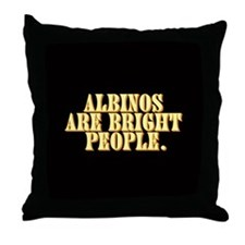 Albinos are bright - Throw Pillow