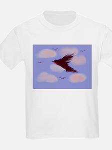 Gen Gray Bird Cloudy Sky T-Shirt