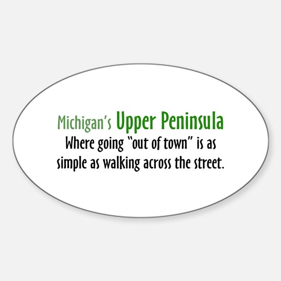 Going Out Of Town Oval Decal