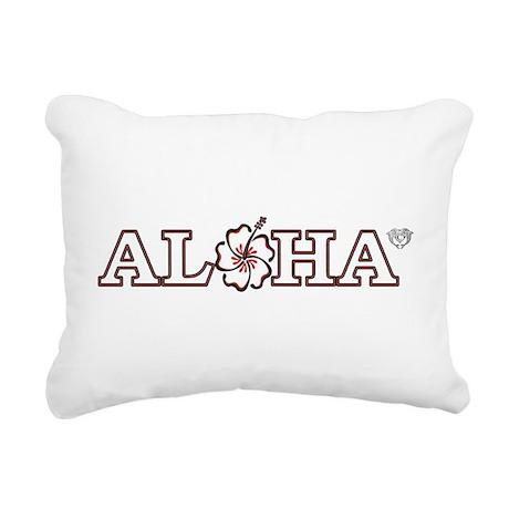 ALOHA Rectangular Canvas Pillow