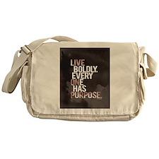 Live Boldly On Purpose Messenger Bag
