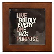 Live Boldly On Purpose Framed Tile