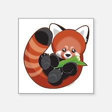 "Red Panda Square Sticker 3"" x 3"""