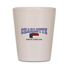 Charlotte, North Carolina NC USA Shot Glass