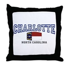 Charlotte, North Carolina NC USA Throw Pillow