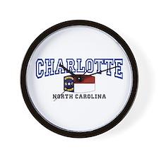 Charlotte, North Carolina NC USA Wall Clock
