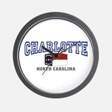 Charlotte, North Carolina NC USA Wall Clock