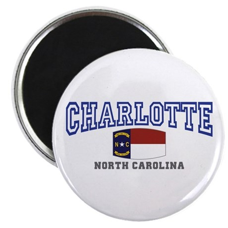 Charlotte, North Carolina NC USA Magnet