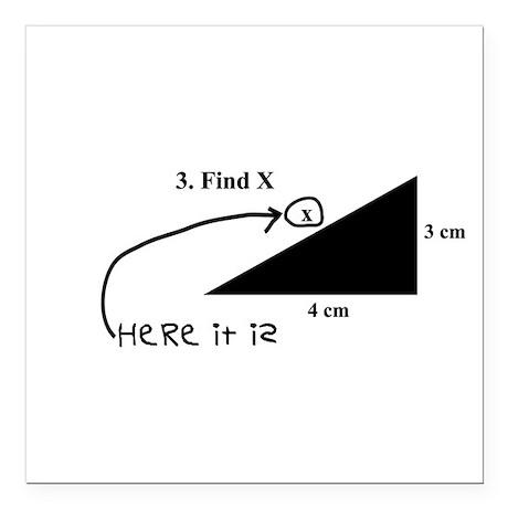 """Find X Square Car Magnet 3"""" x 3"""""""