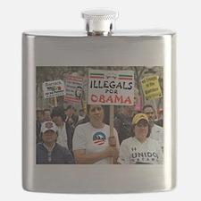 OBAMA ILLEGALS Flask