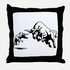 Bull Rage Throw Pillow