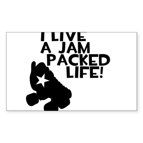 Jam Packed Life Sticker (Rectangle)