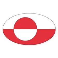 Greenland Oval Decal