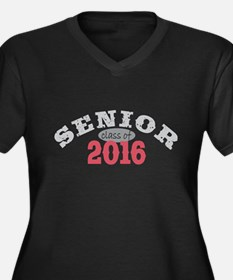 Senior Class of 2016 Women's Plus Size V-Neck Dark