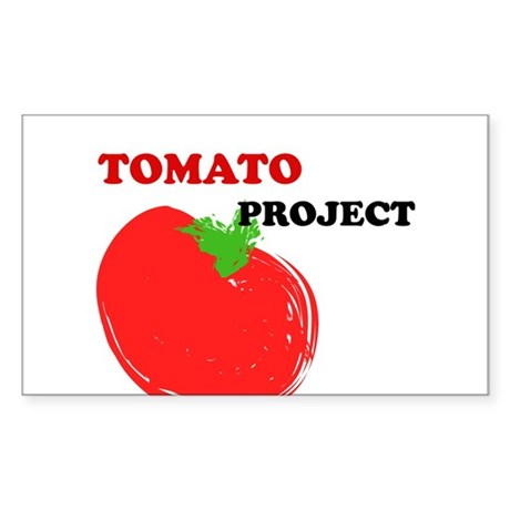Summer spring design tomato project red gr Sticker
