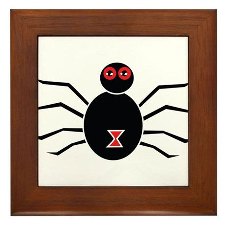 Halloween Spider - Black Widow Framed Tile
