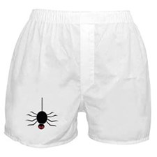 Halloween Spider hanging by a Web Boxer Shorts
