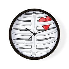 Human Ribs with a Heart Wall Clock