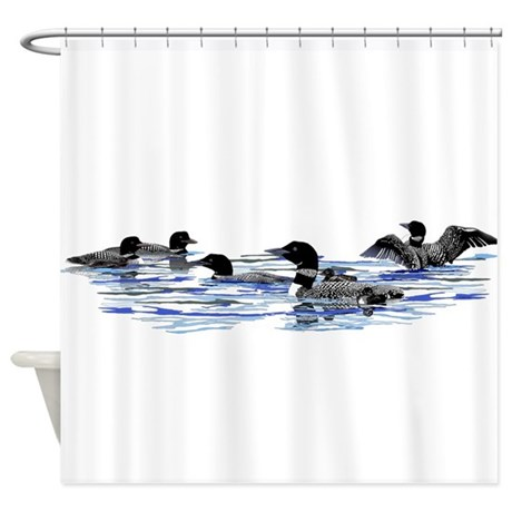 Lots of Loons! Shower Curtain