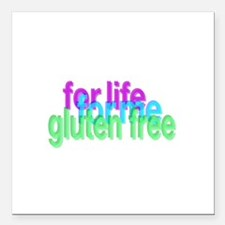 "For life for me gluten free Square Car Magnet 3"" x"