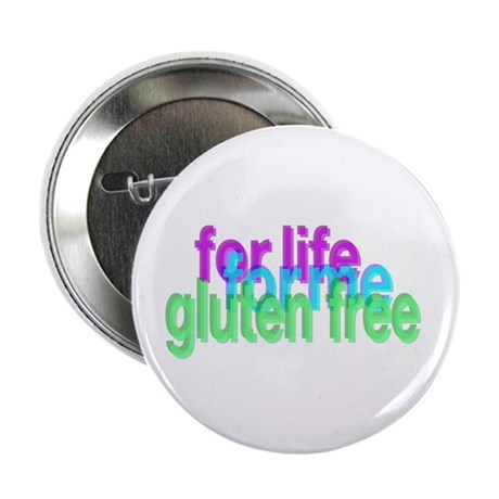 "For life for me gluten free 2.25"" Button"