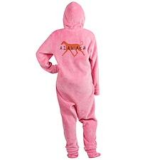 azawakh txtblk.png Footed Pajamas