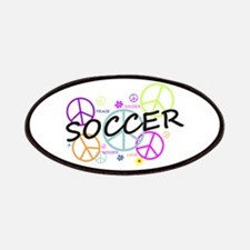 Colored Peace Signs Soccer Patches